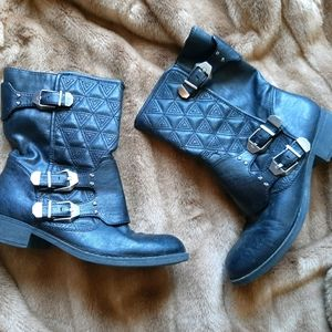 Fergalicius by Fergie motorcycle boots - rock